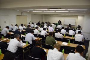 軽減税率の研修会では会場がほぼ満席に