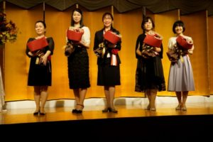 (左から)濱野ちひろさん、高瀬隼子さん、姫野カオルコさん、上畠菜緒さん、佐藤雫さん