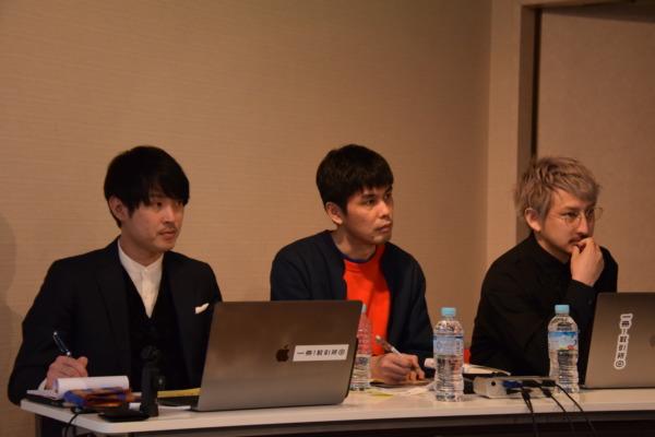 左から蓑原氏(カランタ代表)、三島氏(ミシマ社代表)、今氏氏(カランタCTO)