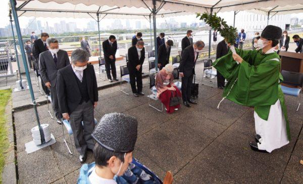 関係者が集まり航空取材などの安全を祈願した第81回毎日神社例大祭