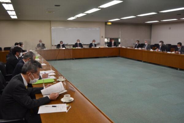 新聞協会内で開かれた販売改革推進会議