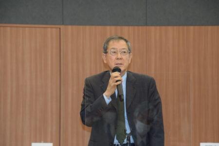 あいさつする相賀昌宏代表理事(小学館代表取締役社長)